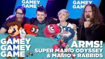 ARMS! Super Mario Odyssey! Mario + Rabbids!